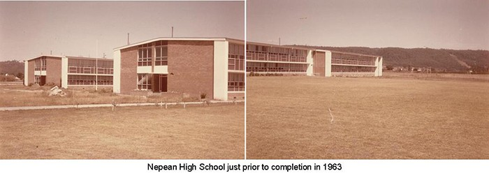Nepean High School in 1963